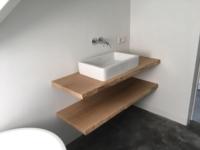 wastafel meubel boomstam planken