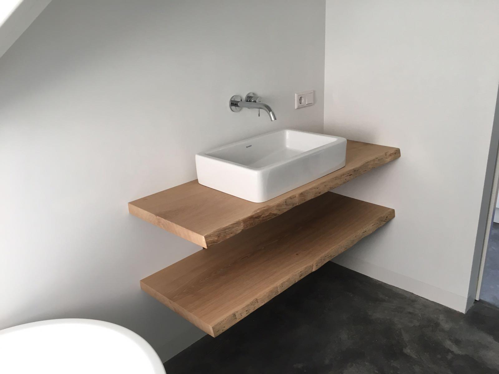 Onwijs Wastafel meubel boomstam planken – Tafel en meer DM-53