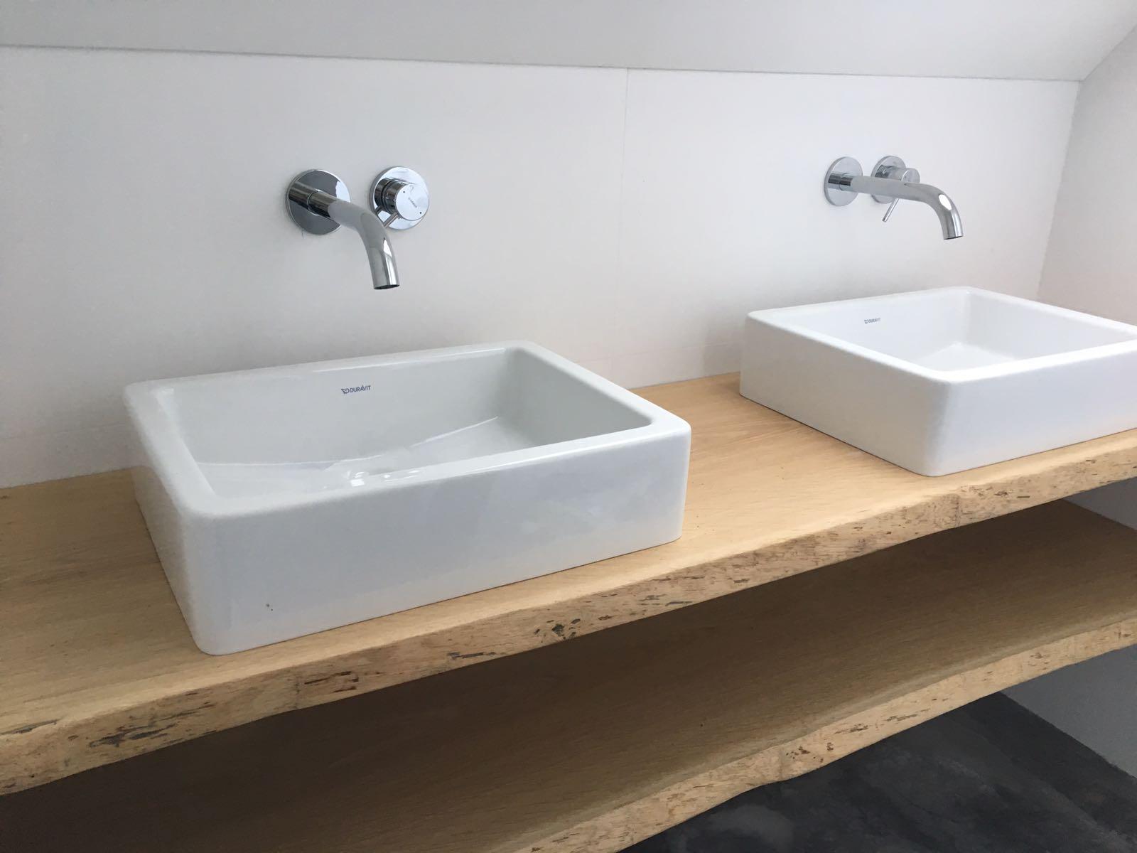 Toilet Meubel Boomstam Plank Eiken Tafel En Meer