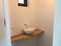Toilet meubel boomstam plank eiken